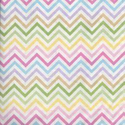 Tissu chevron arc en ciel pastel