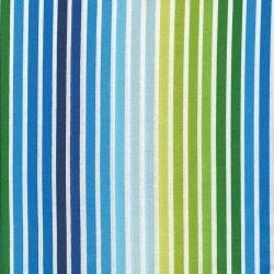 Tissu rayé bleu vert