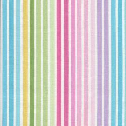 Tissu rayé arc en ciel pastel
