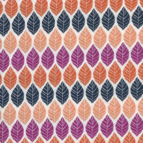Tissu patch feuilles d'automne MM