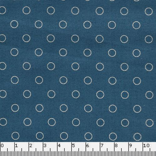 Tissu coton blue sky ring dark blue Makower