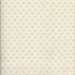 Tissu coton blue sky ring cream Makower