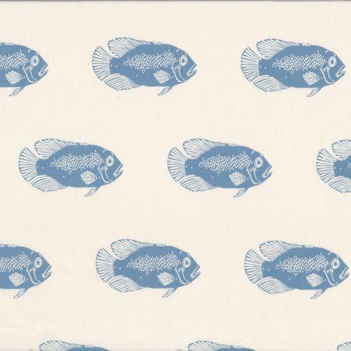 Tissu French Terry  Fish