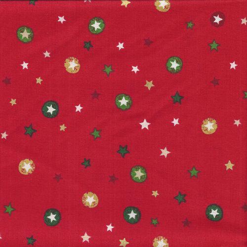 Tissu coton stars red Makower