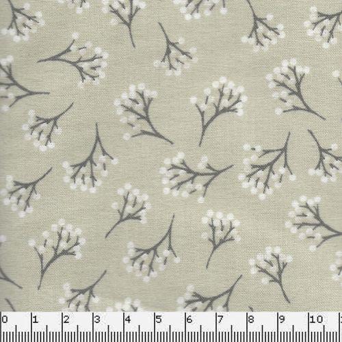 Tissu coton  woods berry cream Makower
