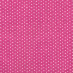 Tissu coton à étoiles rose Poppy