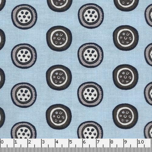 Tissu pneu de voitures fond bleu