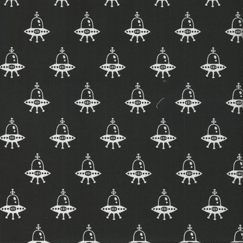 Tissu patch space out noir