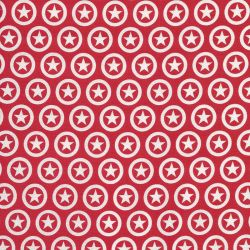 Tissu Riley Blake Lucky Star fond rouge
