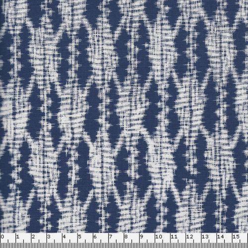 Tissu patch MM sashiko indigo 100 %cot
