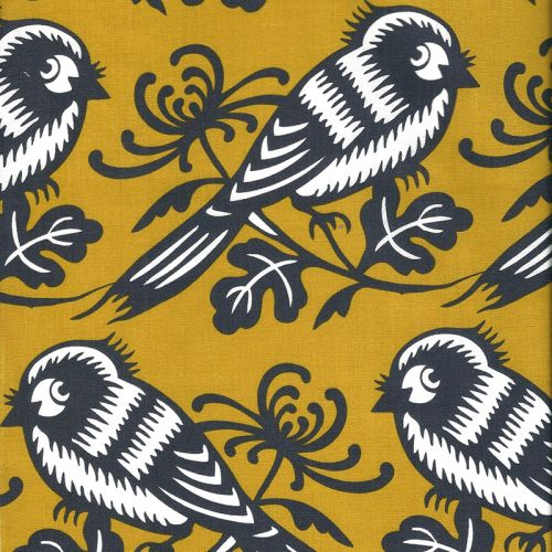 Tissu patch Michael Miller oiseaux fond mout 100 % cot