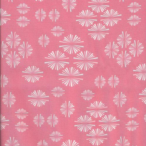 Tissu Paperie Rose
