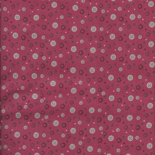Tissu patch Lynette Anderson pois fond rose
