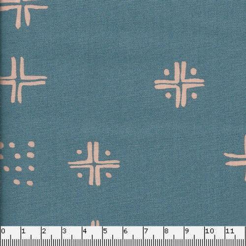 Tissu coton Tapestry Bleu