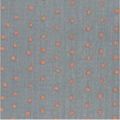 Tissu coton gaze Pocho fond gris Nani Iro