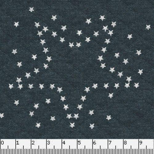 Tissu matelassé étoiles fond bleu