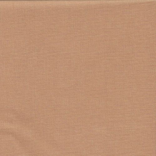 Tissu 100% coton linon powder brown larg 145 cm