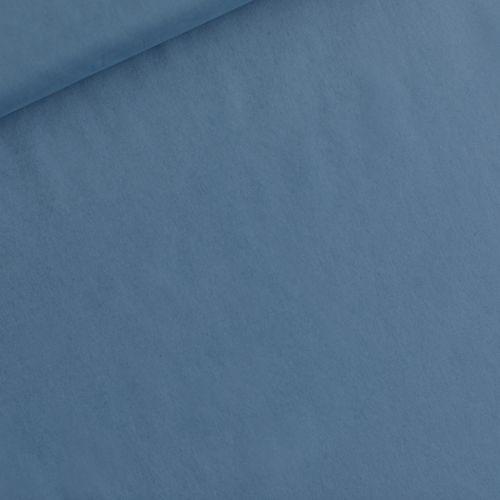 Tissu 100% coton linon Dyna blue larg 145 cm