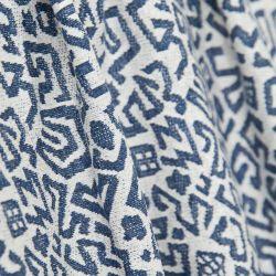 Tissu jersey Maille bleu