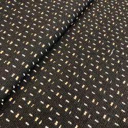 Tissu noir motif géo rect blc/saumon Maison Victor