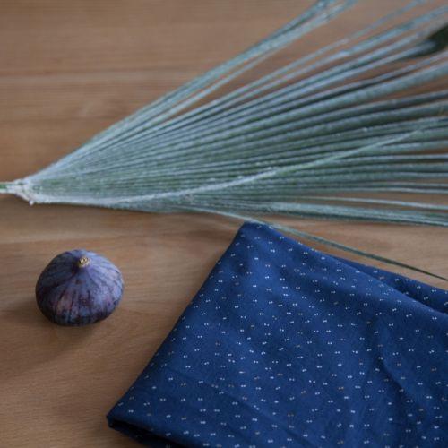 Tissu Sparkle Midnight Blue Atelier Brunette