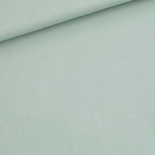 Tissu French Terry 96%cot/4%sp  uni vert jade larg 150 cm