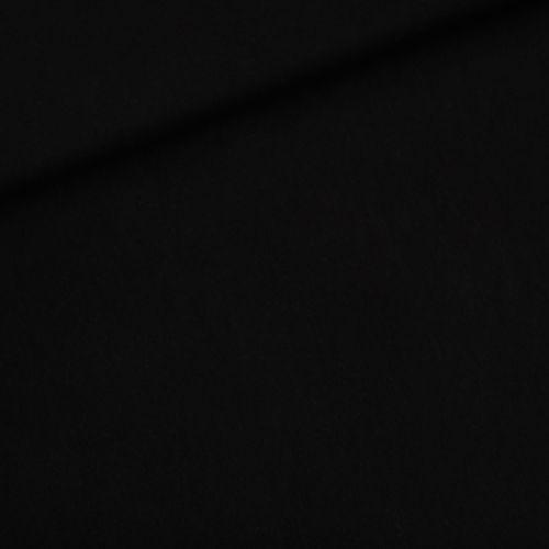 Tissu French Terry uni noir