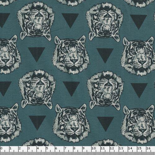 Tissu jersey tigres et triangles digital