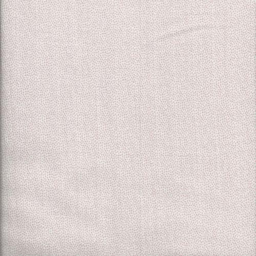 Tissu coton double gaze blanc pois roses