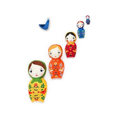 Panneau Kukla dolls Robert Kaufman