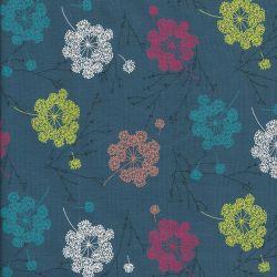 Tissu jersey grandes fleurs de pissenlit