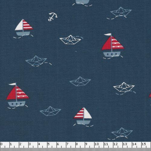 Tissu jersey petits bateaux