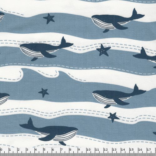 Tissu jersey Moby dick
