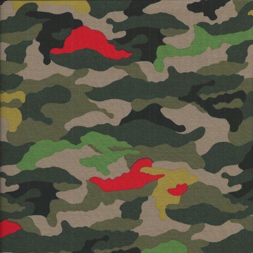 Tissu jersey Camouflage Poppy