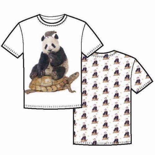 Panneau pandas tortues herissons blanc 70cmx150