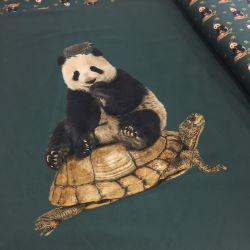 Panneau pandas tortues herissons vert 70 x150 cm