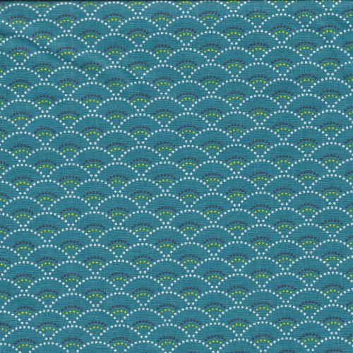 Tissu coton Koi émeraude