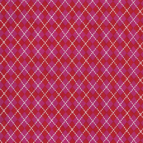 Tissus losange rose fushia