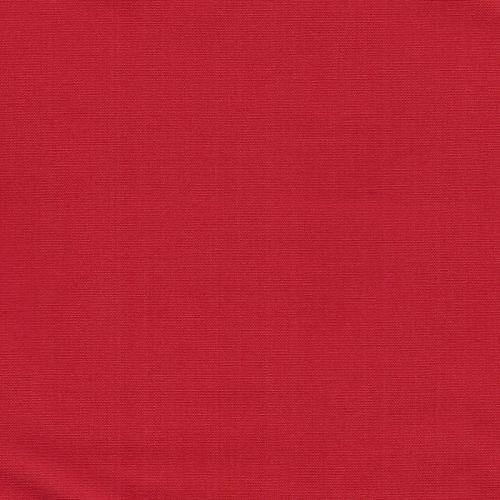 Tissu popeline unie rouge