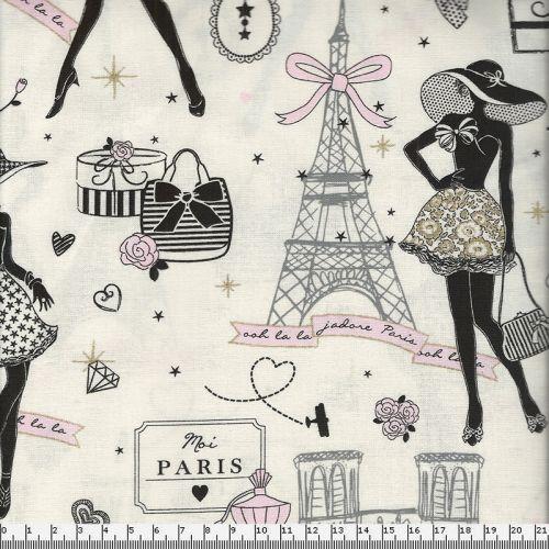 Tissu coton Paris