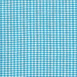 Tissu coton vichy bleu turquoise