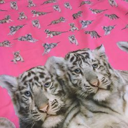 Panneau jersey tigre rose
