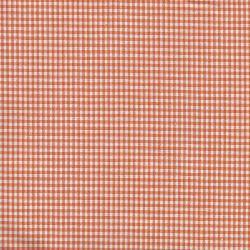 Tissu coton vichy orange