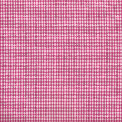 Tissu coton vichy fuschia