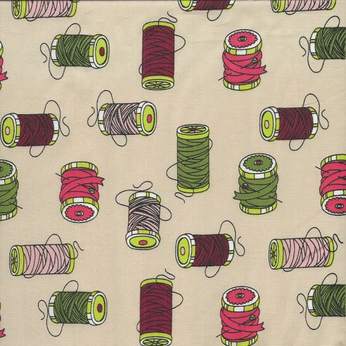 Tissu popeline bobines de fils
