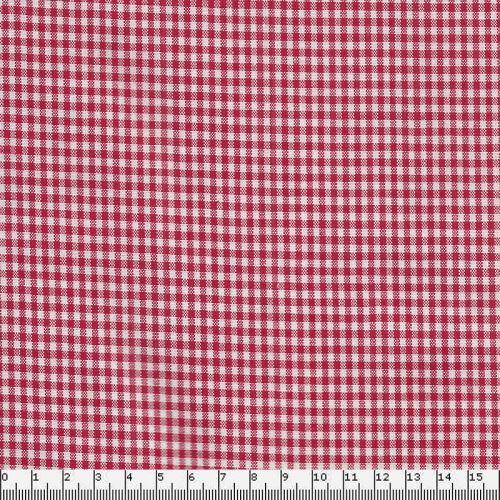 Tissu coton vichy rouge
