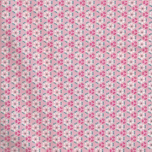 Tissu coton graphics rose Poppy