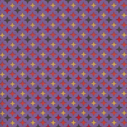 Tissu popeline étincelles colorées fond violet