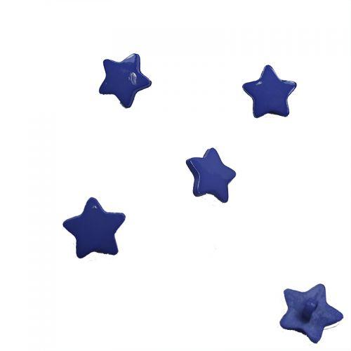Bouton étoile bleu diam 15 mm