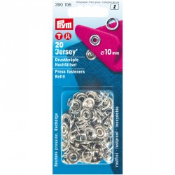 Carte 20 Boutons press. Jersey recharges 10mm